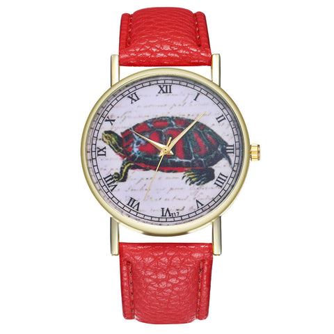 Bracelet Montre Tortue Matiano couleurs Rouge