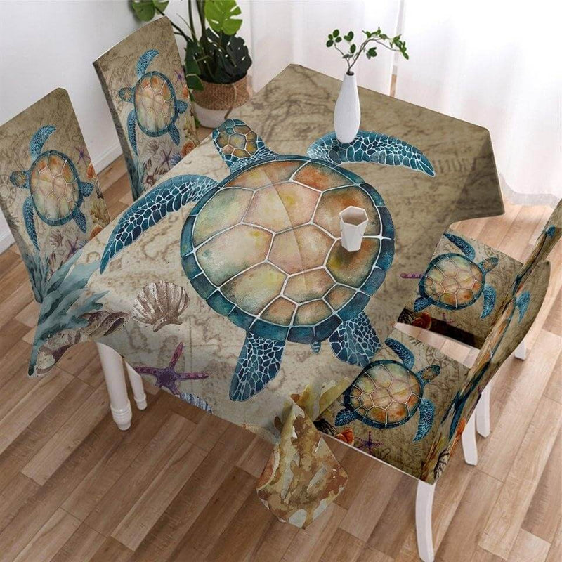 Nappe de Table Tortue Paisible