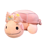 Peluche Tortue Noeud Noeud Rose