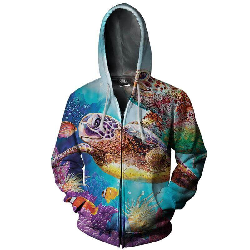 Sweat Shirt Tortue Fantaisie
