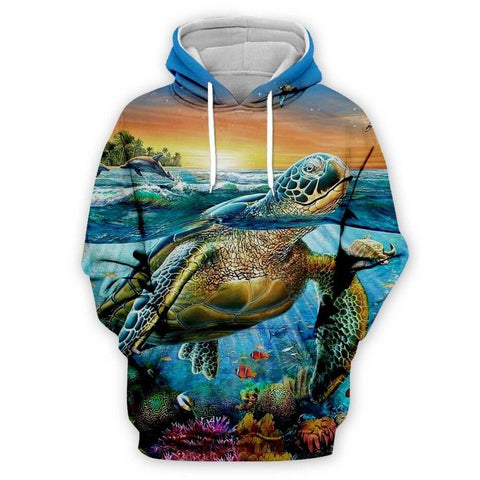 Sweat Shirt Tortue Ile Créole