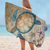 Serviette de Plage Tortue Sable