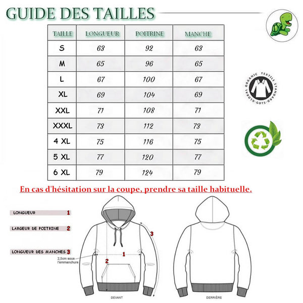 Guide des Tailles Pull Sweat shirt Affection