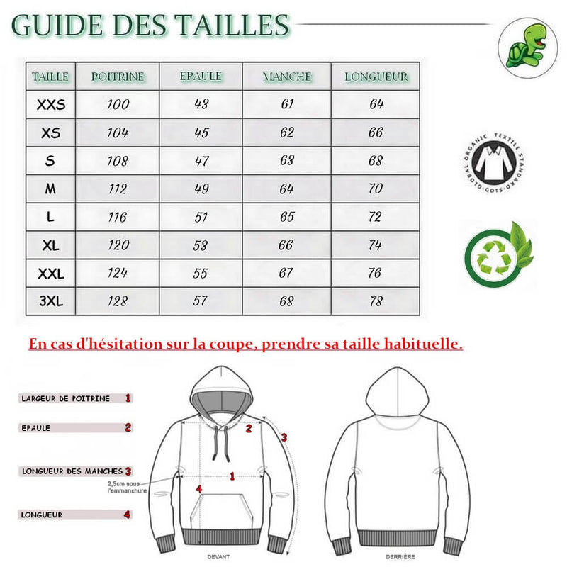 Guide des Tailles Pull Sweat shirt Classe