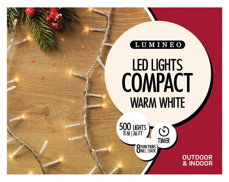 74 Ft. Warm White LED Christmas Lights