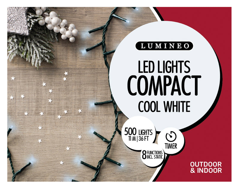 74 Ft. Cool White LED Christmas Lights