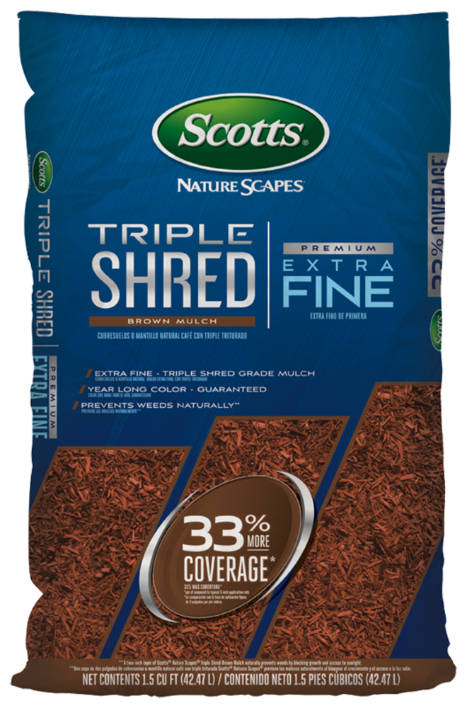 Scotts Naturescape Brown Triple Shred Mulch - 1.5 Cubic Foot