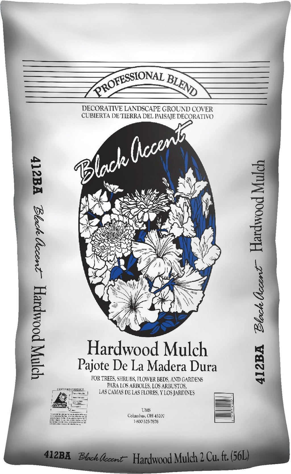 Black Accent Hardwood Mulch - 2 Cubic Foot
