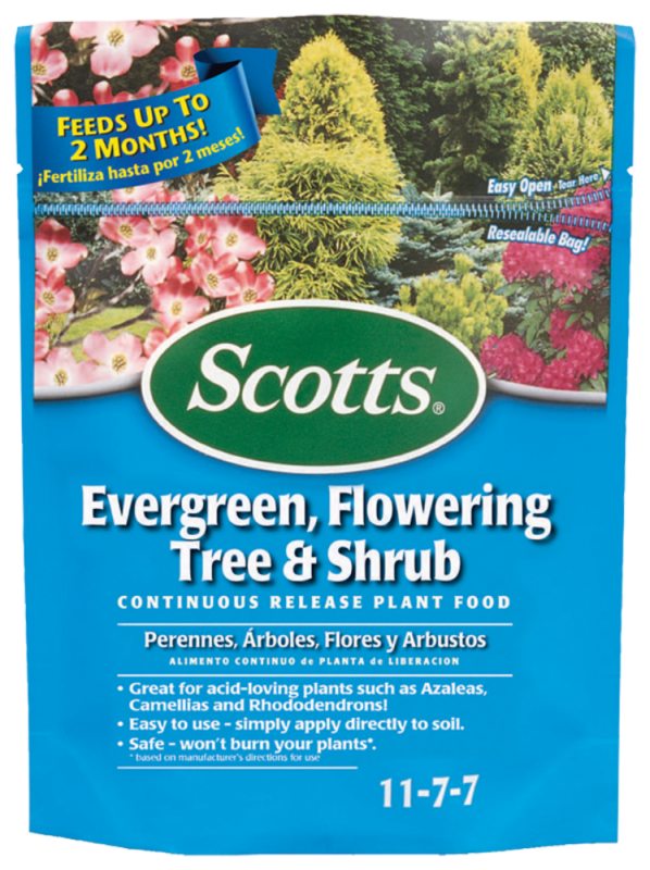 Scotts Evergreen, Flowering Tree & Shrub Food