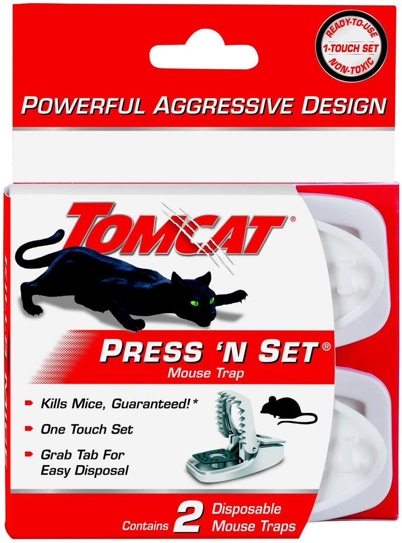 Tomcat Press 'N Set Mouse Trap - 2 Pack