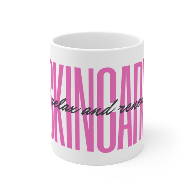 Skincare- Relax and Renew™ Mug 11oz- Hot Pink
