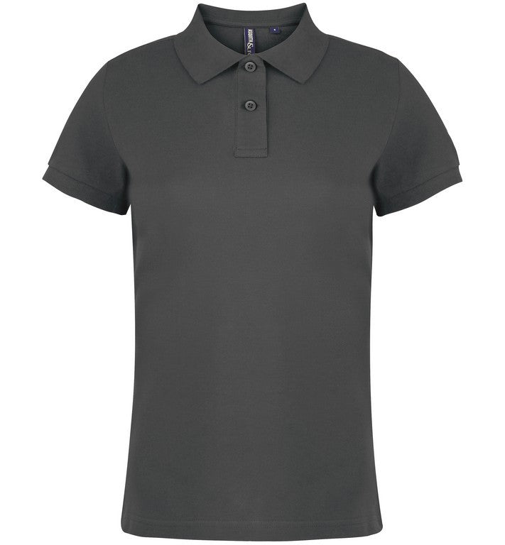 Ladies Cotton Polo Shirt (PF020 (AQ020)) - Charcoal