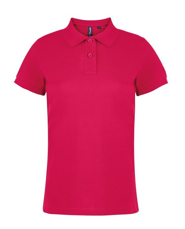 Ladies Cotton Polo Shirt (PF020 (AQ020)) - Cherry Red