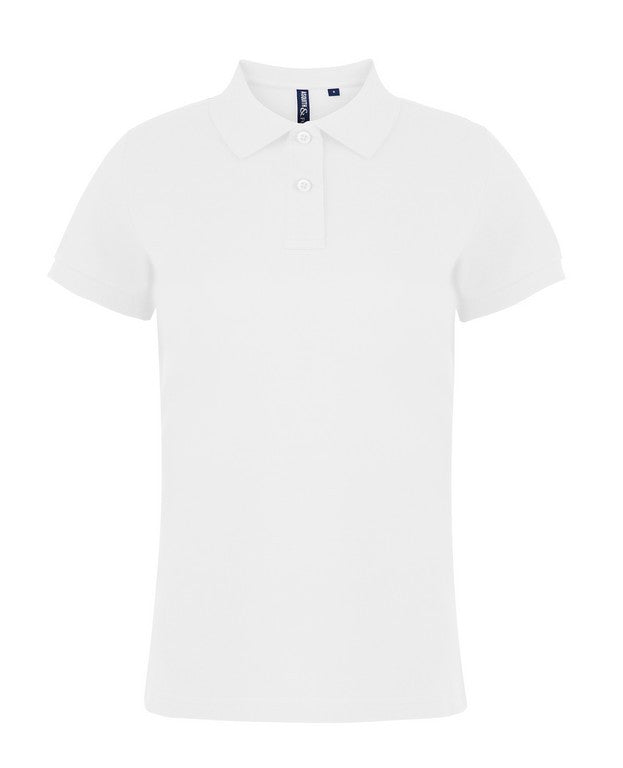 Ladies Cotton Polo Shirt (PF020 (AQ020)) - White