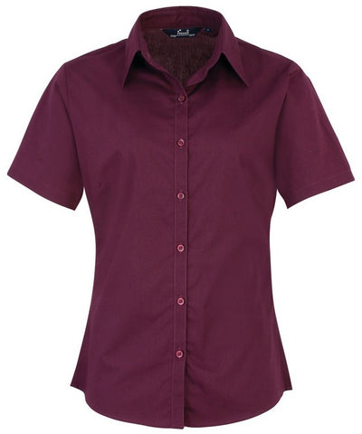 B30 Ladies Easycare Short Sleeve Blouse (PR302) - Aubergine