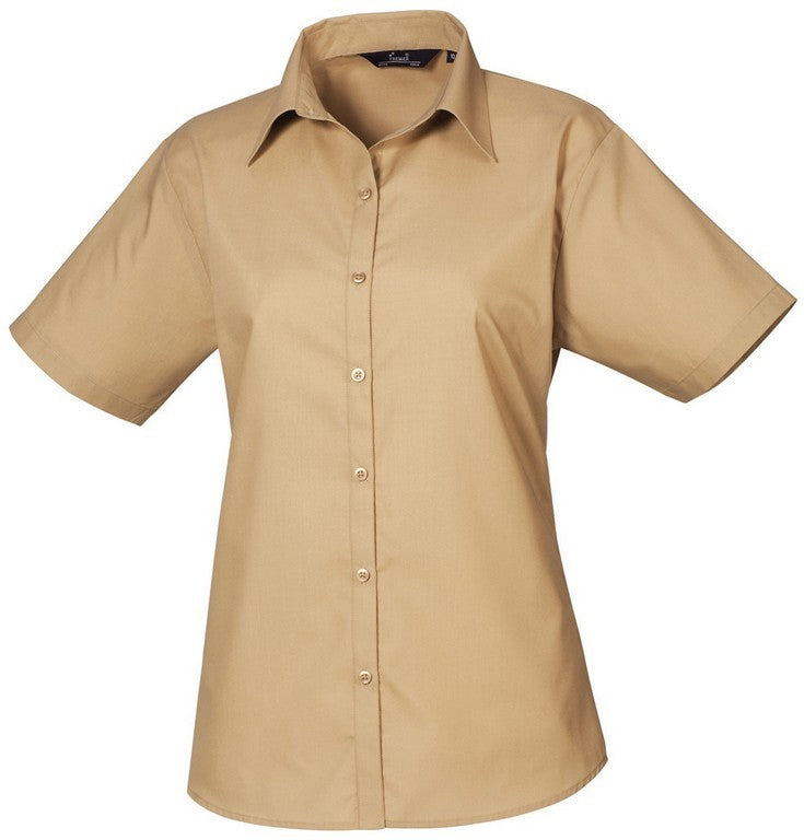 B30 Ladies Easycare Short Sleeve Blouse (PR302) - Khaki