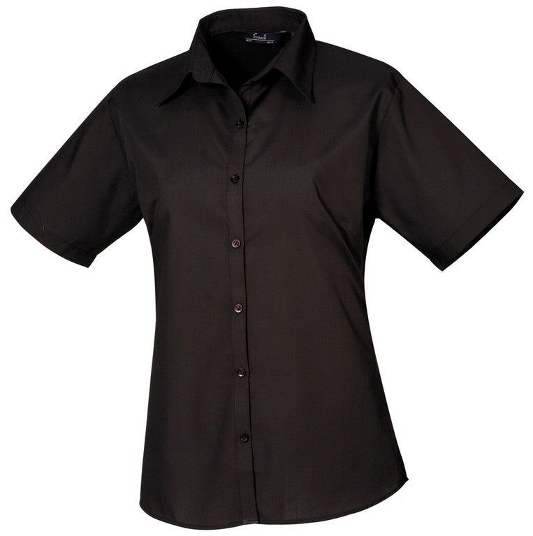 B30 Ladies Easycare Short Sleeve Blouse (PR302) - Black