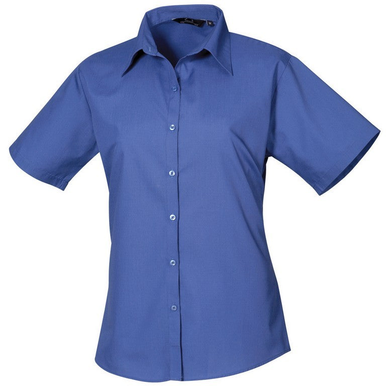 B30 Ladies Easycare Short Sleeve Blouse (PR302) - Royal