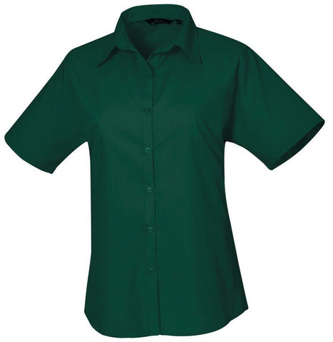 B30 Ladies Easycare Short Sleeve Blouse (PR302) - Bottle