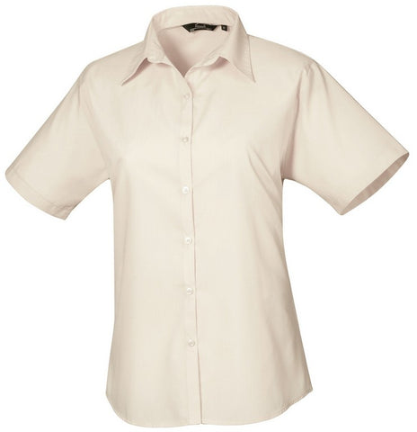 B30 Ladies Easycare Short Sleeve Blouse (PR302) - Natural