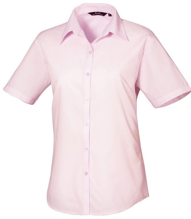 B30 Ladies Easycare Short Sleeve Blouse (PR302) - Pink