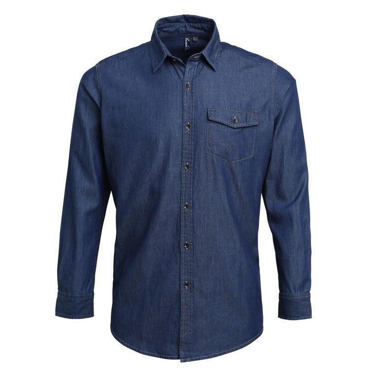 Men's Denim Shirt (S222 (PR222)) - Indigo Denim
