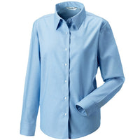 Ladies Long Sleeve  Oxford Blouse (B167 (932F))
