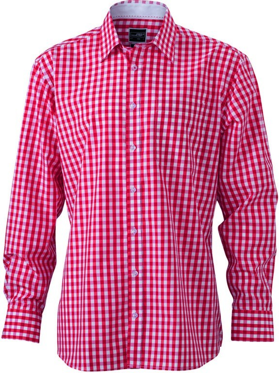 S270 Men's Check Contrast Shirt (JN617)