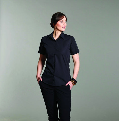 Ladies Short Sleeve  Easy Care Blouse (B600)