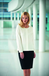 Riola Ladies Long Sleeve Crepe De Chine Blouse (B189)
