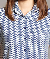 Ava Ladies Short Sleeve Print Blouse (B248)