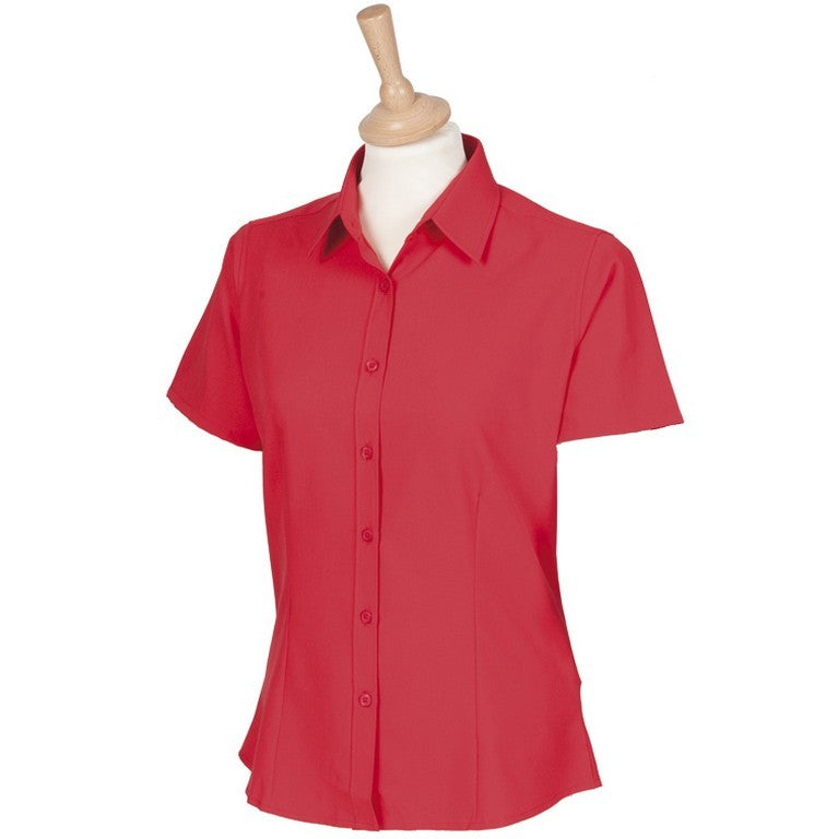 Ladies Antibacterial UV Blouse (B150 (HB596)) - Red