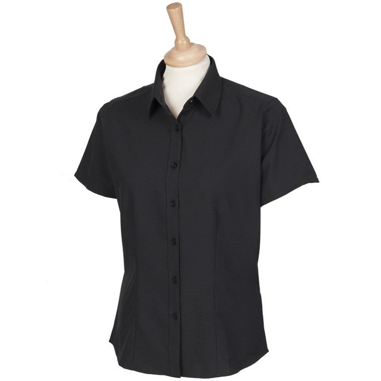 Ladies Antibacterial UV Blouse (B150 (HB596)) - Black