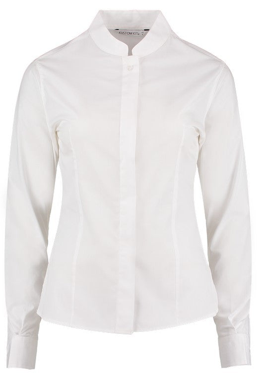 Ladies Long Sleeve  Mandarin Collar Blouse (B113 (KK261))