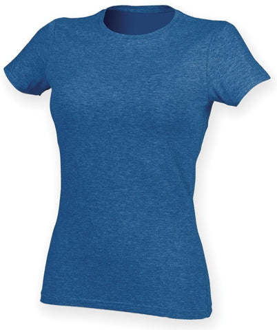 Ladies Stretch T-Shirt (TS90 (SK121)) - Heather Blue