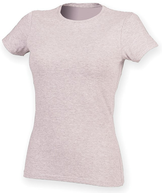Ladies Stretch T-Shirt (TS90 (SK121)) - Heather Pink