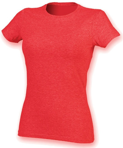 Ladies Stretch T-Shirt (TS90 (SK121)) - Heather Red