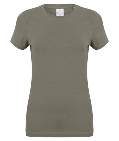 Ladies Stretch T-Shirt (TS90 (SK121)) - Khaki