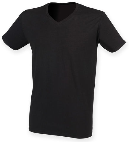 Men's Stretch  V-Neck T-Shirt (TS222 (SF122))