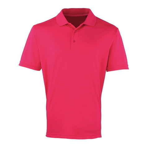 Unisex Cool checker Polo (P615 (PR615)) - Hot Pink