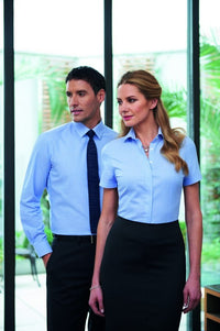 Napoli Ladies Semi Fitted SS Blouse (B118)