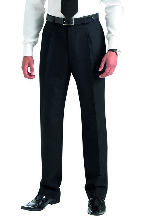 Principle Single Pleat Trouser (TM168) - Black