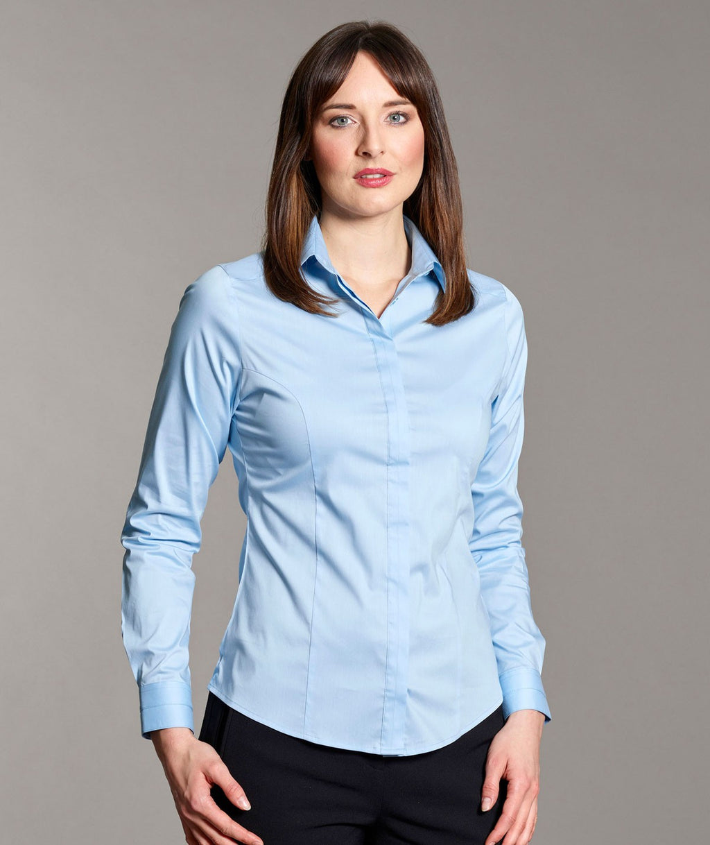 Ladies Stretch Blouse Long Sleeve (B109 Orla)
