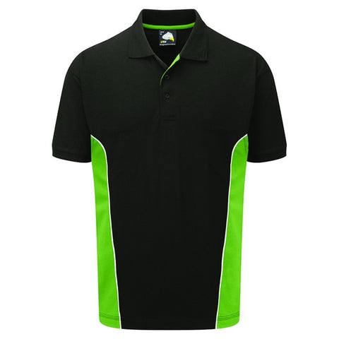 Silverstone Polo (P11 (1180-10)) - Black / Lime