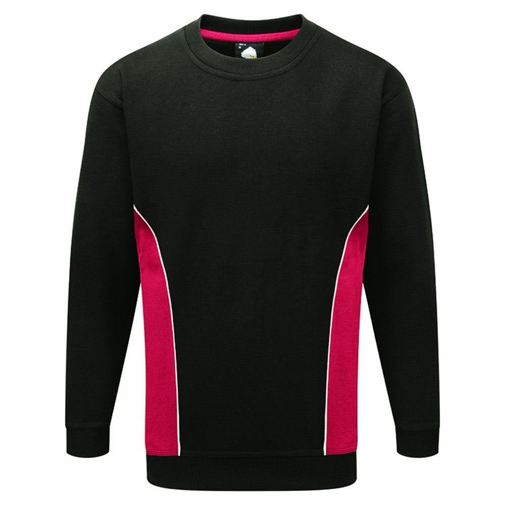 Silverstone Sweatshirt (SW12 (1290-15)) - Black / Red