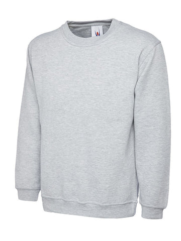 Premium Workwear Sweatshirt (SW201 (UC201)) - Heather Grey