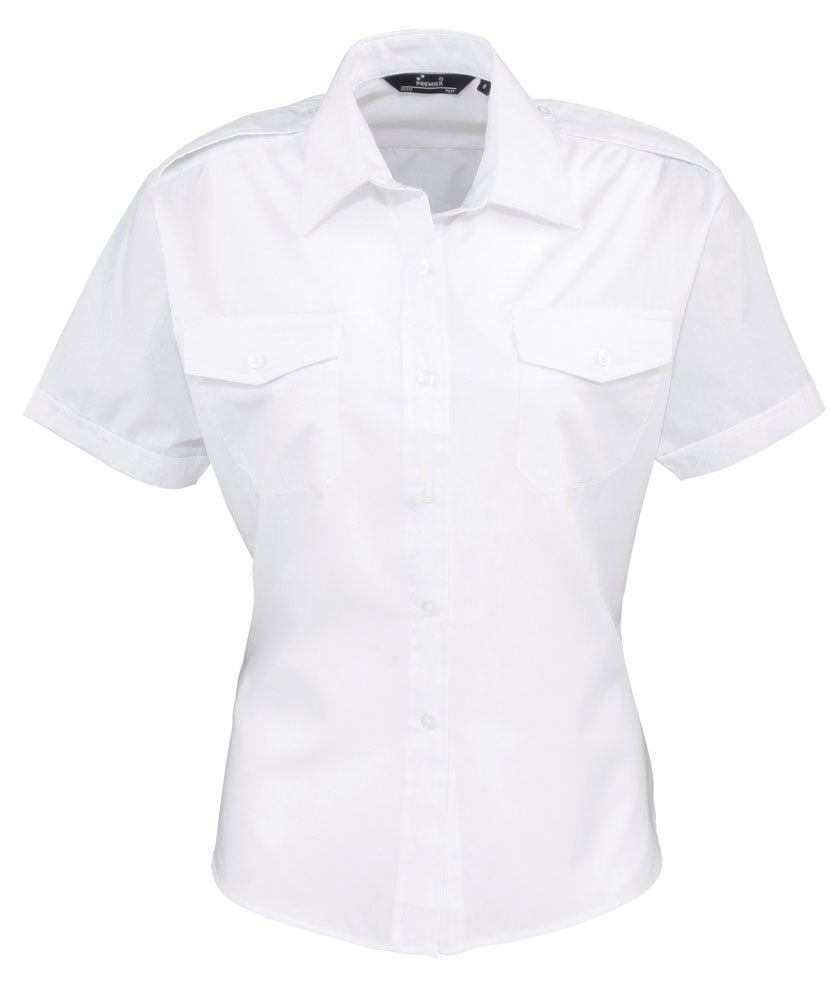 Ladies Short Sleeve Pilot Shirt (B275 (PR312))