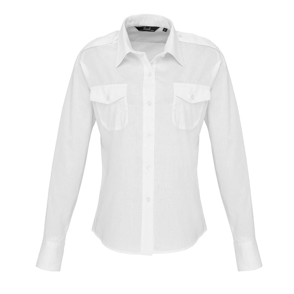 Ladies Long Sleeve  Pilot Shirt (B276 (PR310))