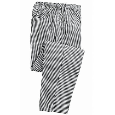 Small Check Elasticated Chefs Trouser