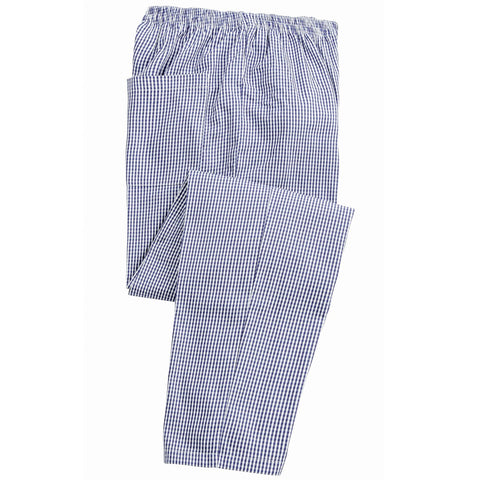 Small Check Elasticated Chefs Trouser (T186 (PR552)) - Navy/White Check